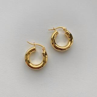 TODAYFUL - 即納_Silver925,18kgp_ Ring hoop earrings