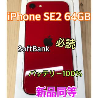 Apple - 【新品同等】iPhone SE 2 64 GB SoftBank Red 本体
