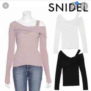 snidel - snidel アシメントリーニット
