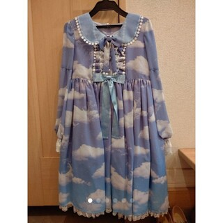 Angelic Pretty - ★Misty Sky OP&リボンクリップ Set★Aqua Symphony★