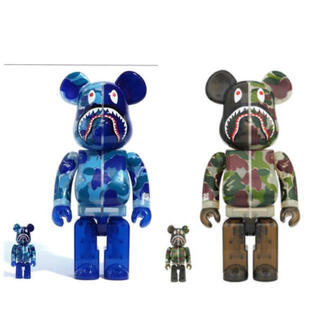 メディコムトイ(MEDICOM TOY)のBAPE BE@RBRICK ABC CAMO SHARK 100%&400%(その他)