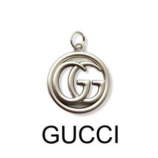 グッチ(Gucci)のCU63ヴィンテージ ボタン★チャーム GUCCI★マットシルバー(各種パーツ)