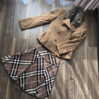 バーバリーブルーレーベル(BURBERRY BLUE LABEL)のコート&スカート(ピーコート)