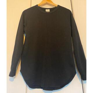 グリーンレーベルリラクシング(green label relaxing)のアローズ グリーンレーベル 黒 サーマル トップス(Tシャツ/カットソー(七分/長袖))