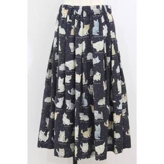 franche lippee - フランシュリッペ ねこ図鑑柄 丈長スカート