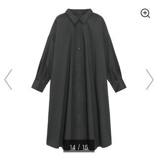 GU - ジーユー Aラインシャツワンピース シャツワンピース Aライン ワンピース