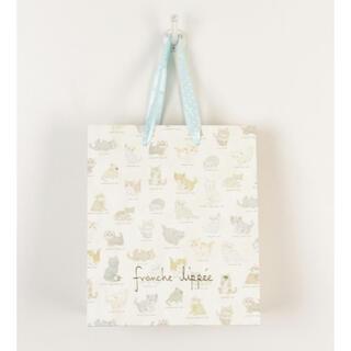 フランシュリッペ(franche lippee)のfranche lippée(フランシュリッペ) ショッピングバッグS ねこ図鑑(ショップ袋)