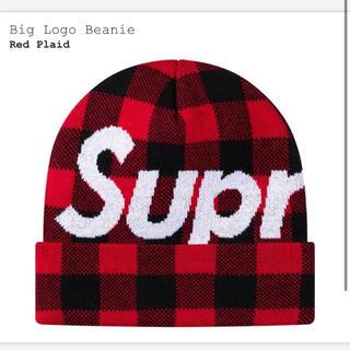シュプリーム(Supreme)のシュプリーム ニット帽 ビーニー 赤(ニット帽/ビーニー)
