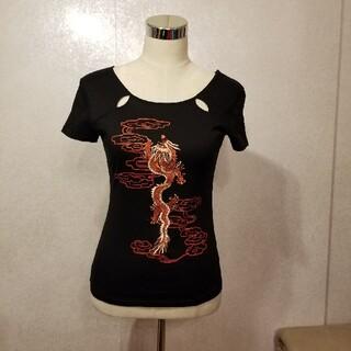 ヴィヴィアンタム(VIVIENNE TAM)の新品/VIVIENNE TAMの龍刺繍Tシャツ/Mサイズ(Tシャツ(半袖/袖なし))