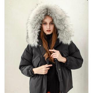 アメリヴィンテージ(Ameri VINTAGE)のAMAIL   Eskimo warm coat   ブラック(ダウンコート)