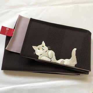 フリフ(ふりふ)のふりふ 半巾帯「ごろん猫」新品(帯)