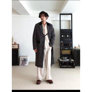 サンシー(SUNSEA)のsunsea check coat 17aw チェックコート size2(チェスターコート)