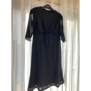 シマムラ(しまむら)のワンピース 黒 11号 礼服 美品(礼服/喪服)