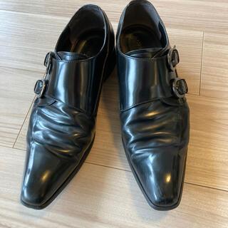 アオヤマ(青山)のビジネスシューズ モンクストラップ ブラック メンズ  (ドレス/ビジネス)