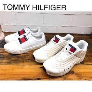 TOMMY HILFIGER - トミー ロゴ スリッポン スニーカー