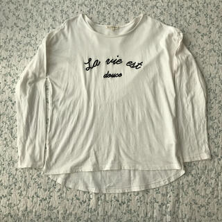 サンカンシオン(3can4on)のロゴ刺繍 ロンT(Tシャツ/カットソー(七分/長袖))