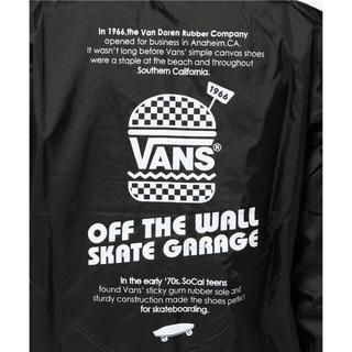 ヴァンズ(VANS)のvans コーチジャケット ブラック(ナイロンジャケット)