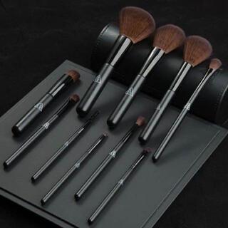 スリーシーイー(3ce)のメイクブラシセット 10本ケース付き化粧 セット 初心者 高級繊維毛(コフレ/メイクアップセット)