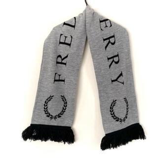 フレッドペリー(FRED PERRY)のフレッドペリー マフラー美品  グレー×黒(マフラー/ショール)