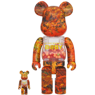 メディコムトイ(MEDICOM TOY)のBE@RBRICK AUTUMN LEAVES Ver.100% 400%(その他)