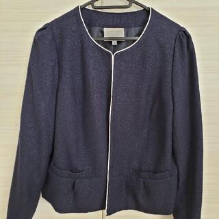 アウター 襟なしジャケット(ノーカラージャケット)