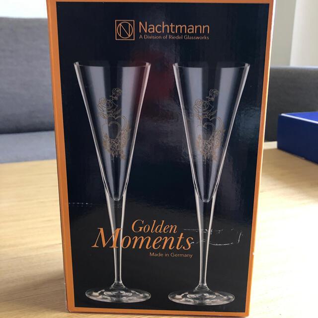 Nachtmann(ナハトマン)のNachtmann ペア フルートグラス シャンパングラス インテリア/住まい/日用品のキッチン/食器(グラス/カップ)の商品写真
