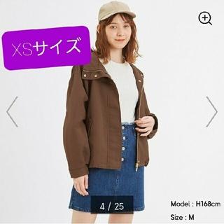 ジーユー(GU)のGU☆新品タグつき 今季マウンテンパーカー ブラウン XS(ナイロンジャケット)