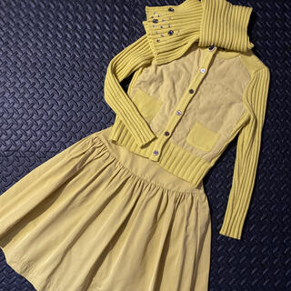 エムズグレイシー(M'S GRACY)のエムズグレイシー ニットジャケット・スカートセットアップ ビジューマフラー付き☆(セット/コーデ)