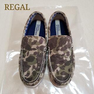リーガル(REGAL)のREGAL リーガル 迷彩 スウェード スリッポン スニーカー ローファー 革靴(スリッポン/モカシン)