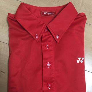 ヨネックス(YONEX)のヨネックス メンズ L ゴルフ ポロシャツ  赤 YONEX(ウエア)