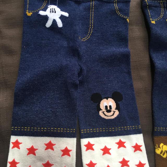 Disney(ディズニー)のミッキー、プーさんスパッツ2点セット キッズ/ベビー/マタニティのキッズ/ベビー/マタニティ その他(その他)の商品写真
