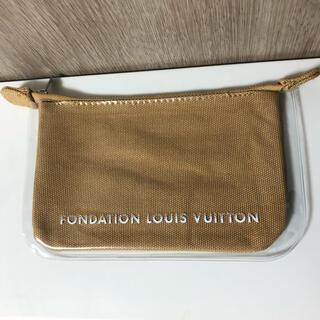 ルイヴィトン(LOUIS VUITTON)の新品 パリ ルイヴィトン美術館 限定 フォンダシオン ポーチ キャメル 茶色(その他)