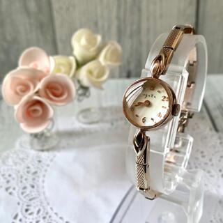 アガット(agete)の【希少】agete アガット 腕時計 シェル ピンクゴールド 0.005ct(腕時計)
