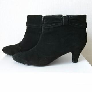 ユナイテッドアローズ(UNITED ARROWS)のショートブーツ☆黒☆スウェード(ブーツ)