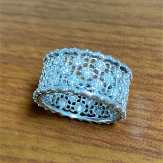 アンティークスタイルリング D0.86ct K18WG ダイヤ(リング(指輪))