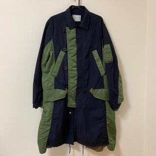 サカイ(sacai)のSacai 19aw cotton nylon oxford coat(ミリタリージャケット)