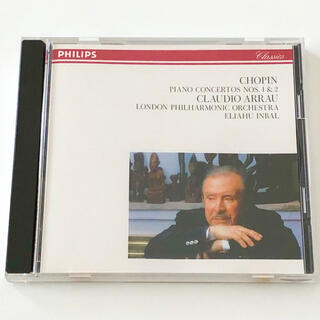 フィリップス(PHILIPS)のショパン ピアノ協奏曲第1番 ピアノ協奏曲第2番 クラウディオ・アラウ(クラシック)