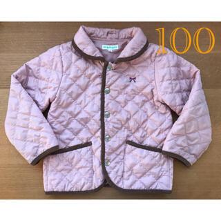 サンカンシオン(3can4on)の3can4on 中綿 キルティング  ジャケット ピンク 100(ジャケット/上着)