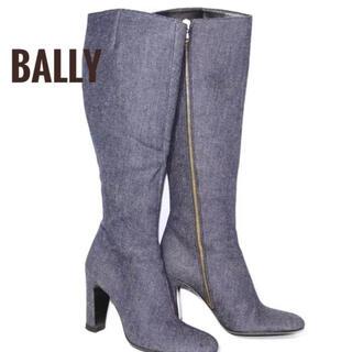 バリー(Bally)の【新品】定価98000円 BALLY デニム地 ロングブーツ 37ハーフ(ブーツ)