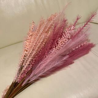 フランフラン(Francfranc)のパンパスグラス ピンク オレンジ カラフル 造花 ドライフラワー ブーケ(ドライフラワー)