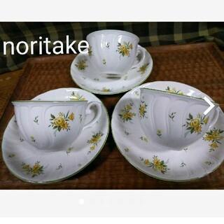 ノリタケ(Noritake)のノリタケ クラフトーン カップ&ソーサー 3客(食器)