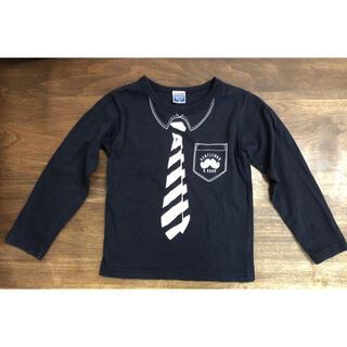 ナルミヤ インターナショナル(NARUMIYA INTERNATIONAL)のビールーム b・ROOM 男の子 ネクタイ柄長袖Tシャツ 110cm(Tシャツ/カットソー)