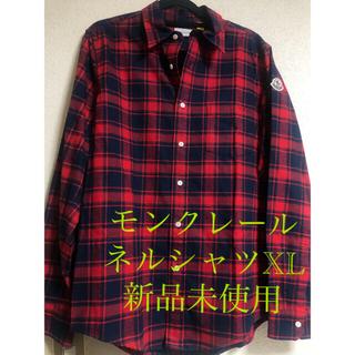 モンクレール(MONCLER)の新品未使用 モンクレールチェックシャツ XL(シャツ)