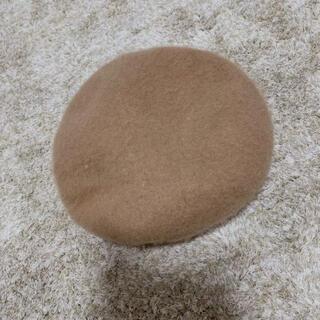 グレイル(GRL)のグレイル ベレー帽 ベージュ ブラウン ハンチング 帽子 美品 太ゴム(ハンチング/ベレー帽)