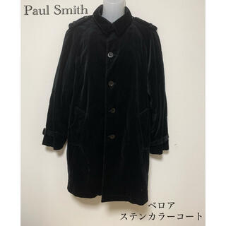 Paul Smith - Paul Smith メンズ ベロア ステンカラーコート ブラック