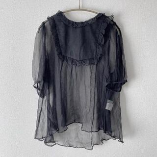 franche lippee - \ 最終価格 /【美品】フランシュリッペ しんなりひらひらブラウス 黒
