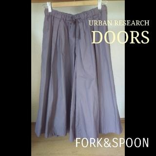 ドアーズ(DOORS / URBAN RESEARCH)の* アーバンリサーチドアーズ ワイドギャザーガウチョパンツ コットン(その他)