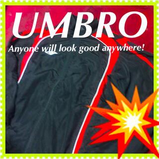 アンブロ(UMBRO)の🍀【umbro】ナイロンジャケット ジャンパー ジャケット ブルゾン 黒(ナイロンジャケット)