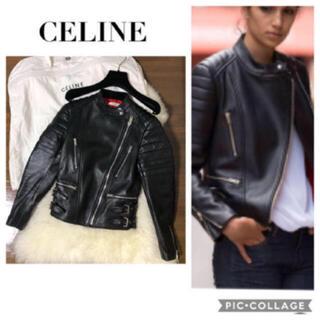 セリーヌ(celine)のセリーヌ♡シープスキン♡ライダースジャケット(ライダースジャケット)