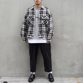 クーティー(COOTIE)のCOOTIE Linen Check Work L/S Shirt Mサイズ(ブルゾン)